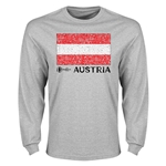 Austria Euro 2016 Element Flag Long Sleeve T-Shirt (Grey)