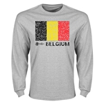 Belgium Euro 2016 Elemental Flag LS T-Shirt (Grey)
