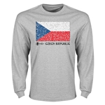 Czech Republic Euro 2016 Element Flag Long Sleeve T-Shirt (Grey)