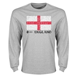 England Euro 2016 Elemental Flag LS T-Shirt (Grey)