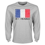 France Euro 2016 Element Flag Long Sleeve T-Shirt (Grey)