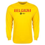 Belgium Euro 2016 Core LS T-Shirt (Yellow)
