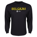 Belgium Euro 2016 Core LS T-Shirt (Black)