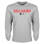 Belgium Euro 2016 Core LS T-Shirt (Gray)