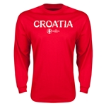 Croatia Euro 2016 Core Long Sleeve T-Shirt (Red)