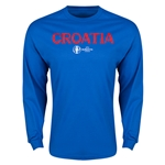 Croatia Euro 2016 Core Long Sleeve T-Shirt (Royal)