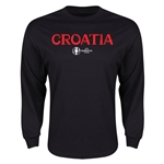Croatia Euro 2016 Core Long Sleeve T-Shirt (Black)