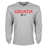 Croatia Euro 2016 Core Long Sleeve T-Shirt (Gray)