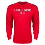 England Euro 2016 Core Long Sleeve T-Shirt (Red)