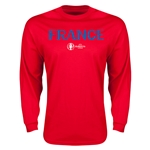 France Euro 2016 Core Long Sleeve T-Shirt (Red)