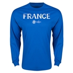France Euro 2016 Core Long Sleeve T-Shirt (Royal)