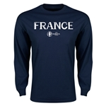 France Euro 2016 Core Long Sleeve T-Shirt (Navy)