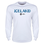 Iceland Euro 2016 Core Long Sleeve T-Shirt (White)