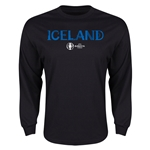 Iceland Euro 2016 Core Long Sleeve T-Shirt (Black)