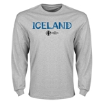 Iceland Euro 2016 Core Long Sleeve T-Shirt (Gray)