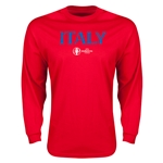 Italy Euro 2016 Core Long Sleeve T-Shirt (Red)