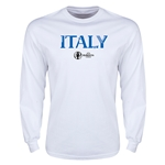 Italy Euro 2016 Core Long Sleeve T-Shirt (White)