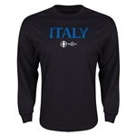 Italy Euro 2016 Core Long Sleeve T-Shirt (Black)