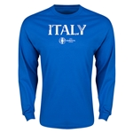 Italy Euro 2016 Core Long Sleeve T-Shirt (Royal)