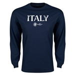 Italy Euro 2016 Core Long Sleeve T-Shirt (Navy)