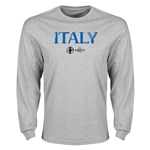 Italy Euro 2016 Core Long Sleeve T-Shirt (Gray)