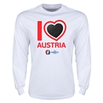 Austria Euro 2016 Heart Long Sleeve T-Shirt (White)