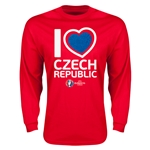 Czech Republic Euro 2016 Heart Long Sleeve T-Shirt (Red)