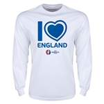 England Euro 2016 Heart Long Sleeve T-Shirt (White)