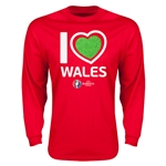 Wales Euro 2016 Heart Long Sleeve T-Shirt (Red)