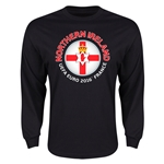 Northern Ireland Euro 2016 Flag Long Sleeve T-Shirt (Black)