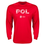 Poland Euro 2016 Element Long Sleeve T-Shirt (Red)