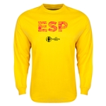 Spain Euro 2016 Element Long Sleeve T-Shirt (Yellow)