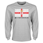 Northern Ireland Euro 2016 Elemental Flag LS T-Shirt (Grey)