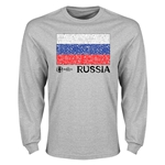 Russia Euro 2016 Element Flag Long Sleeve T-Shirt (Grey)
