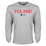 Poland Euro 2016 Core Long Sleeve T-Shirt (Gray)