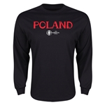 Poland Euro 2016 Core Long Sleeve T-Shirt (Black)
