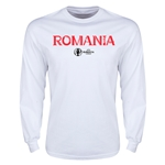 Romania Euro 2016 Core Long Sleeve T-Shirt (White)