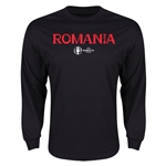 Romania Euro 2016 Core Long Sleeve T-Shirt (Black)