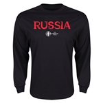 Russia Euro 2016 Core LS T-Shirt (Black)