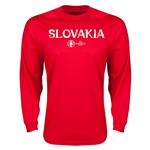 Slovakia Euro 2016 Core Long Sleeve T-Shirt (Red)