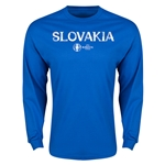 Slovakia Euro 2016 Core Long Sleeve T-Shirt (Royal)