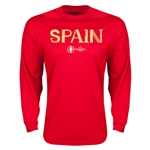 Spain Euro 2016 Core Long Sleeve T-Shirt (Red)