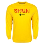 Spain Euro 2016 Core Long Sleeve T-Shirt (Yellow)
