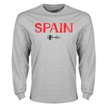 Spain Euro 2016 Core Long Sleeve T-Shirt (Gray)