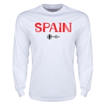 Spain Euro 2016 Core Long Sleeve T-Shirt (White)