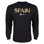 Spain Euro 2016 Core Long Sleeve T-Shirt (Black)