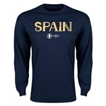 Spain Euro 2016 Core Long Sleeve T-Shirt (Navy)