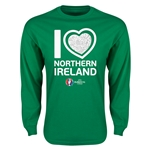 Northern Ireland Euro 2016 Heart Long Sleeve T-Shirt (Green)