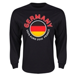 Germany Euro 2016 Flag LS T-Shirt (Black)