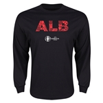 Albania Euro 2016 Elements LS T-Shirt (Black)